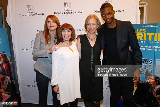Director MarieCastille MentionSchaar actress Ariane Ascaride the history professor whose film is inspired Anne Angles and actor Ahmed Drame attend...
