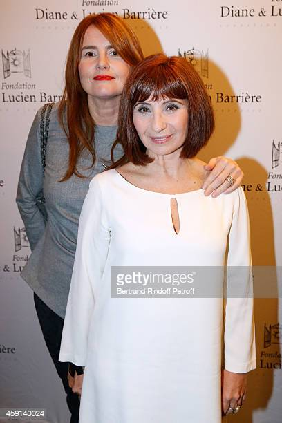 Director MarieCastille MentionSchaar and actress Ariane Ascaride attend 'Les Heritiers' receives Cinema Award 2014 of Foundation Diane Lucien...