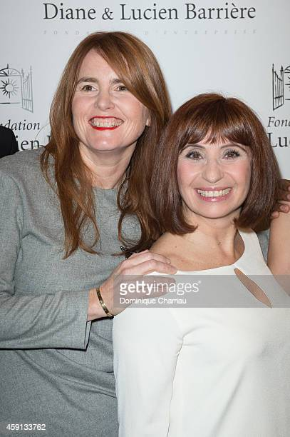 Director MarieCastille MentionSchaar and Ariane Ascaride attend 'Les Heritiers' Premiere Hosted by Fondation Diane Lucien Barriere at Publicis Champs...