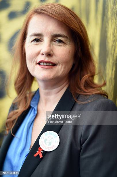 Director MarieCastille MentionSchaar attends 'Le ciel attendra' photocall during the 69th Locarno Film Festival on August 8 2016 in Locarno...