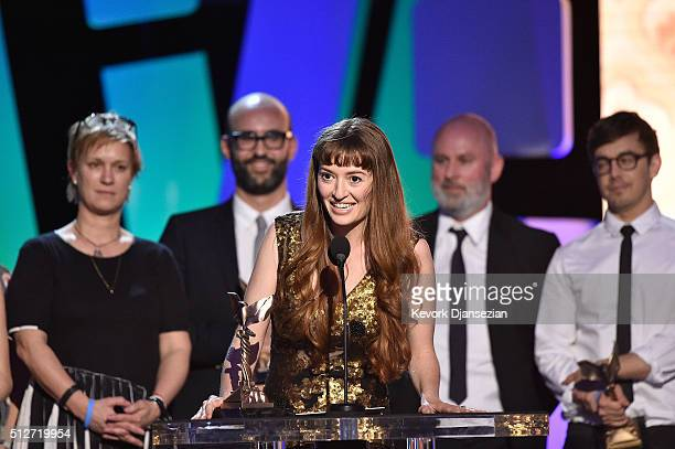 Director Marielle Heller accepts the Best First Feature award for 'The Diary of a Teenage Girl' onstage during the 2016 Film Independent Spirit...