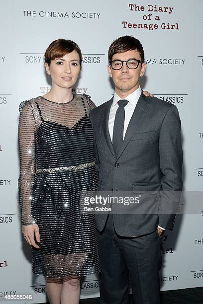 Director Marielle Heller and actor Jorma Taccone attend Sony Pictures Classics with The Cinema Society host a Screening Of The Diary Of A Teenage...