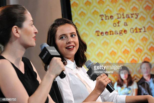Director Marielle Heller and actress Bel Powley attend AOL BUILD Speaker Series Presents 'The Diary Of A Teenage Girl' at AOL Studios In New York on...