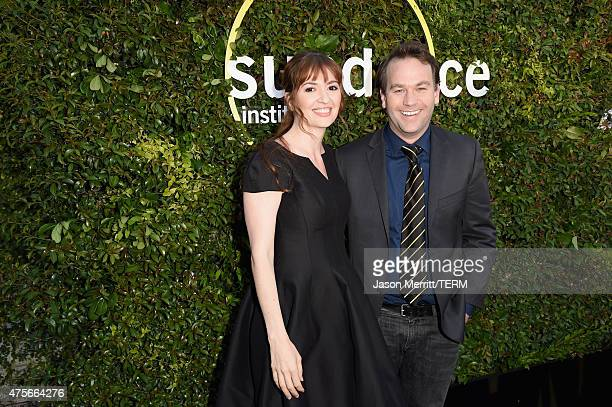 Director Marielle Heller and comedian Mike Birbiglia attend the 2015 Sundance Institute Celebration Benefit at 3LABS on June 2 2015 in Culver City...