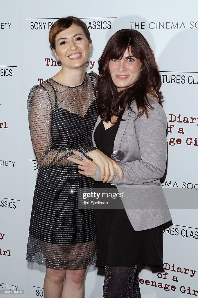 Director Marielle Heller and novelist Phoebe Gloeckner attend the Sony Pictures Classics with The Cinema Society host a screening of 'The Diary Of A Teenage Girl' at Landmark's Sunshine Cinema on August 5, 2015 in New York City.