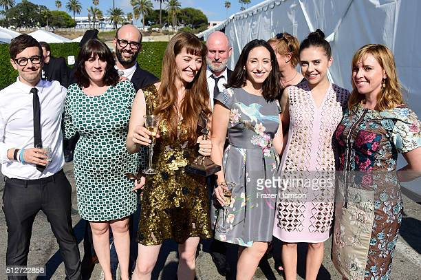 Director Marielle Heller and the cast and crew of 'Diary of a Teenage Girl' attend the 2016 Film Independent Spirit Awards on February 27 2016 in...