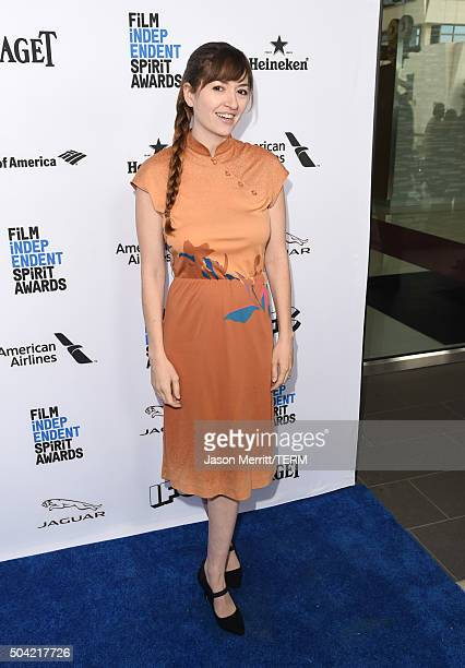 Director Marielle Heller attends 2016 Film Independent Filmmaker Grant and Spirit Award Nominees Brunch at BOA Steakhouse on January 9 2016 in West...