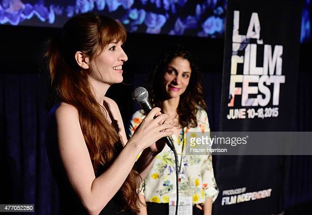Director Marielle Heller speaks onstage at the Diary of a Teenage Girl screening during the 2015 Los Angeles Film Festival at Regal Cinemas LA Live...