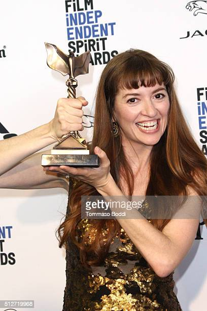 Director Marielle Heller winner of the best first feature award 'The Diary of a Teeenage Girl' poses in the press room during the 2016 Film...