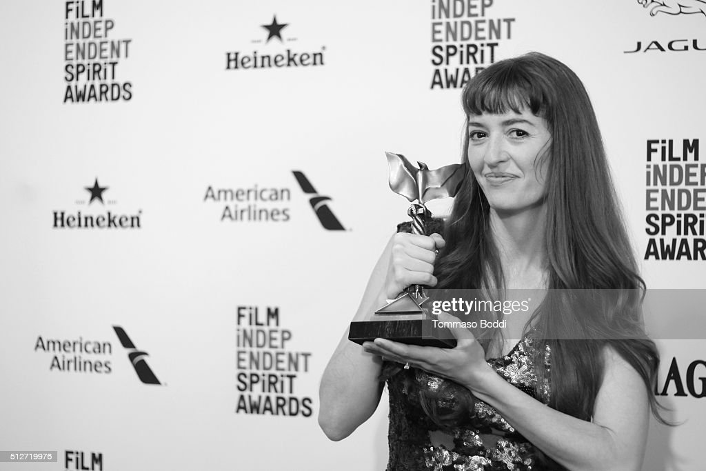Director Marielle Heller, winner of the best first feature award, 'The Diary of a Teeenage Girl', poses in the press room during the 2016 Film Independent Spirit Awards on February 27, 2016 in Santa Monica, California.