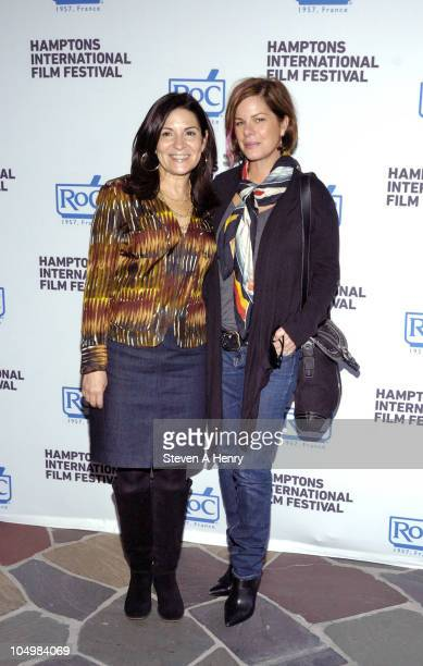 Director Marilyn Agrelo and actress Marcia Gay Harden attend the RoC reception during the 18th Annual Hamptons International Film Festival at The...