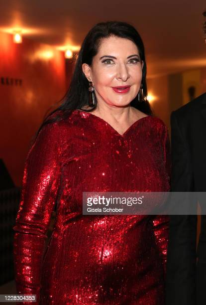 "Director Marina Abramovic after the season opening and world premiere of the opera ""7 Deaths of Maria Callas"" at Bayerische Staatsoper on September..."