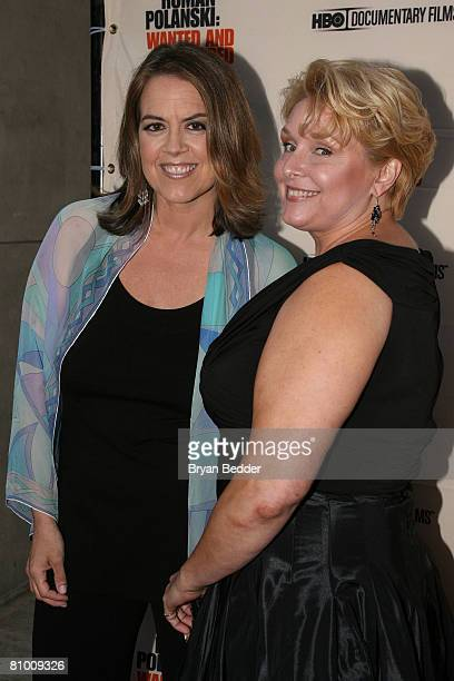 Director Marina Zenovich and documentary subject Samantha Geimer arrives at the premiere of 'Roman Polanski Wanted And Desired' at the Paris Theatre...
