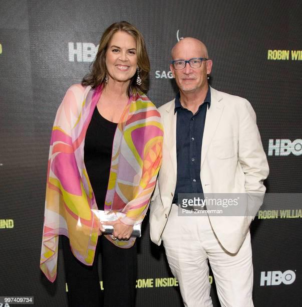 Director Marina Zenovich and producer Alex Gibney attend 'Robin Williams Come Inside My Mind' New York Premiere at SAGAFTRA Foundation Robin Williams...