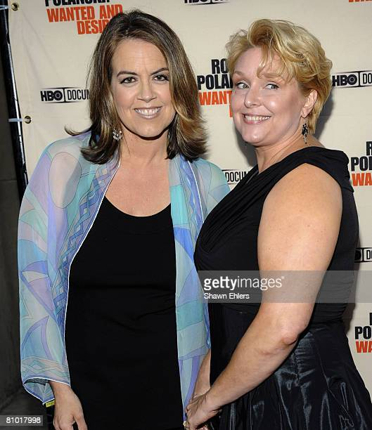 Director Marina Zenovich and Samantha Geimer attend the premiere of the HBO documentary 'Roman Polanski Wanted and Desired' at the Paris Theatre on...