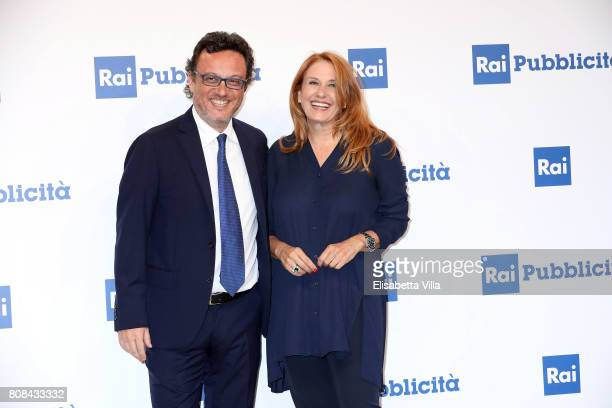 Director Mario Orfeo and RAI President Monica Maggioni attend the Rai Show Schedule Presentation In Rome on July 4 2017 in Rome Italy