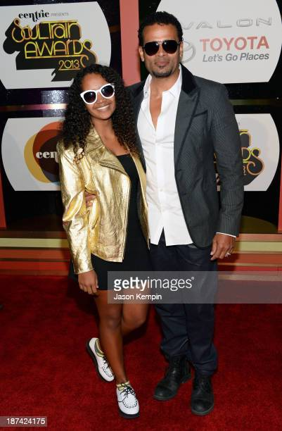 Director Mario Van Peebles and Chitra Sukhu Van Peebles attend the Soul Train Awards 2013 at the Orleans Arena on November 8 2013 in Las Vegas Nevada