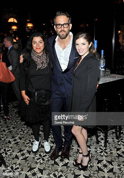 Director Marjane Satrapi actors Ryan Reynolds and Anna Kendrick attend The Voices TIFF party hosted by GREY GOOSE Vodka and Remstar Films on...