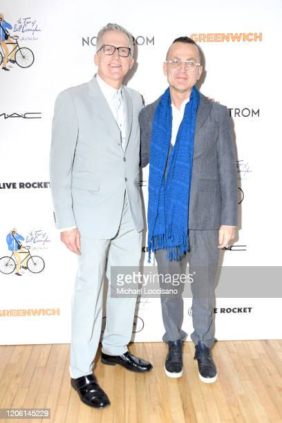 Director Mark Bozek and Steven Kolb attend a New York screening of the documentary The Times of Bill Cunningham at the Angelika Film Center on...