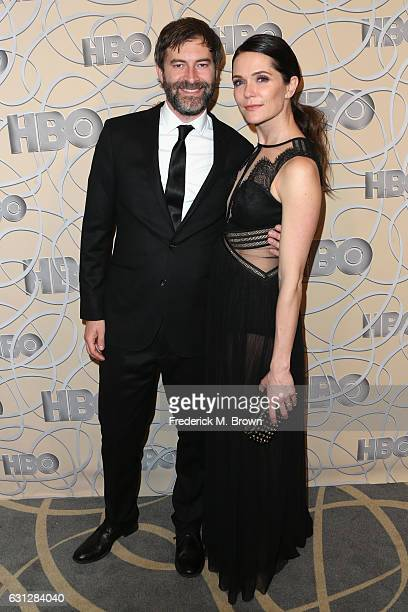 Director Mark Duplass and Katie Aselton attends HBO's Official Golden Globe Awards After Party at Circa 55 Restaurant on January 8 2017 in Beverly...