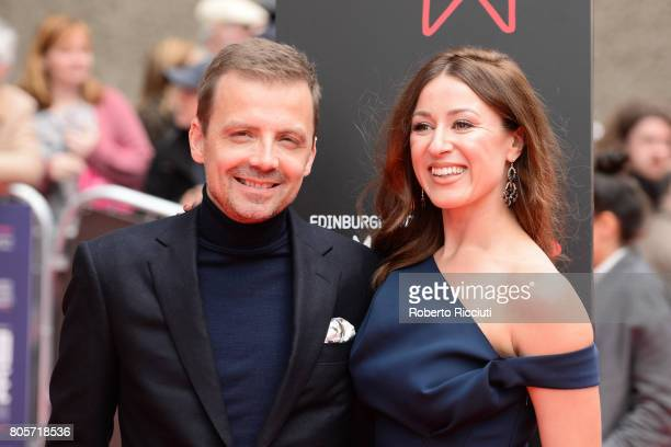 Director Mark Gill and Sarah Later attend the world premiere for 'England is mine' and closing event of the 71st Edinburgh International Film...