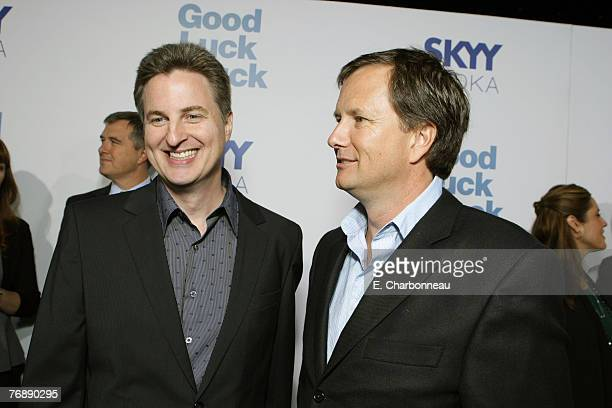 Director Mark Helfrich and Lionsgate's Michael Burns at the premiere of Good Luck Chuck at Mann National Theatre on September 19 2007 in Westwood...