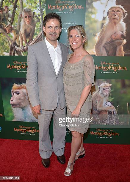 Director Mark Linfield and producer Vanessa Berlowitz attend the world premiere Of Disney's Monkey Kingdom at Pacific Theatres at The Grove on April...