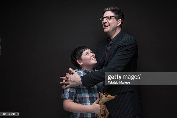 Director Mark Osborne and actor Riley Osborne are photographed for The Hollywood Reporter on May 15 2015 in Cannes France