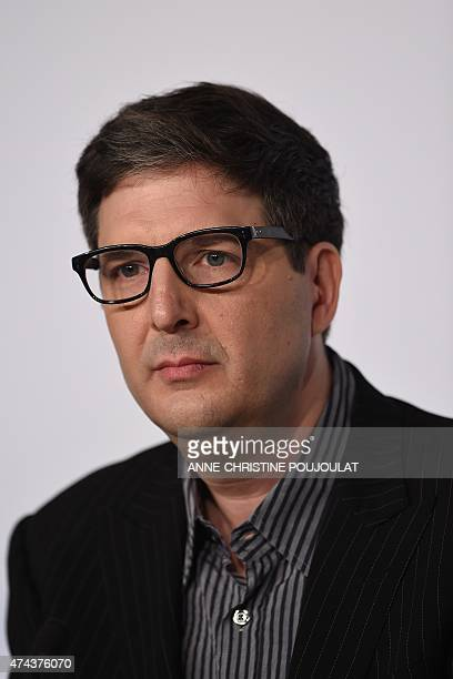 US director Mark Osborne attends a press conference for the film The Little Prince at the 68th Cannes Film Festival in Cannes southeastern France on...