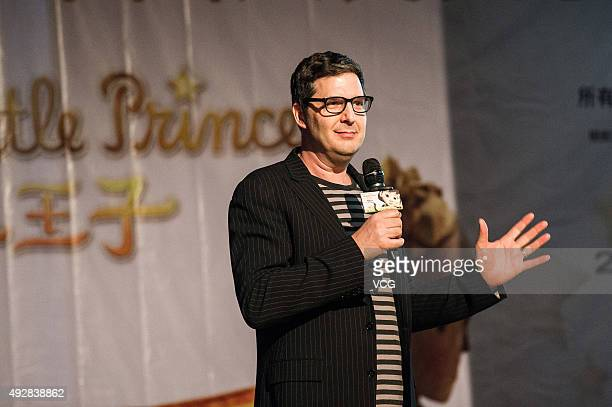 Director Mark Osborne attends 'The Little Prince' press conference at the Renmin University of China on October 15 2015 in Beijing China