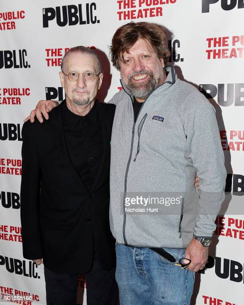 Director Mark Russell and Public Theater artistic director Oskar Eustis attend the 14th Annual Under The Radar Festival opening night at The Public...