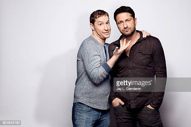 Director Mark Williams and actor Gerard Butler from the film Headhunter's Calling pose for a portraits at the Toronto International Film Festival for...