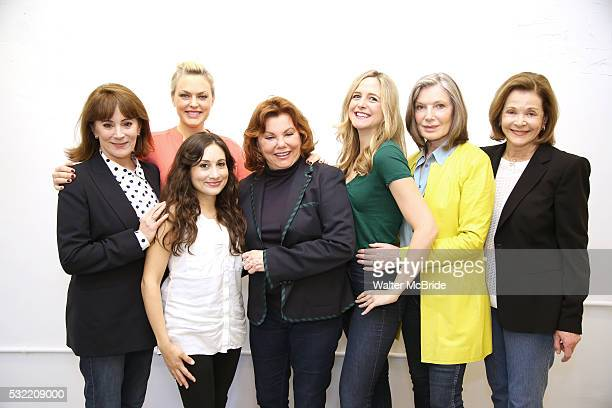 Director Marsha Mason with cast Patricia Richardson Elaine Hendrix Lucy DeVito Clea Alsip Susan Sullivan and Jessica Walter attend the photo call for...