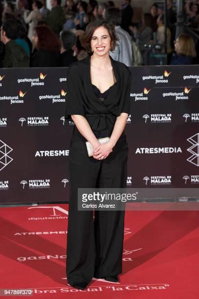 Director Marta Diaz attends 'Las Distancias' premiere during the 21th Malaga Film Festival at the Cervantes Theater on April 17 2018 in Malaga Spain