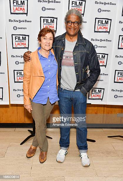 Director Martha Coolidge and Film Independent At LACMA Film Curator Elvis Mitchell attend the Film Independent At LACMA 30th anniversary screening of...