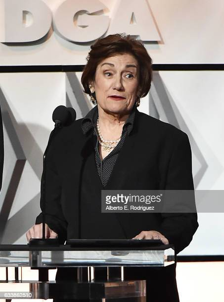 Director Martha Coolidge speaks onstage during the 69th Annual Directors Guild of America Awards at The Beverly Hilton Hotel on February 4 2017 in...