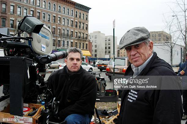 Director Martin Bregman is on hand during filming of the movie Carlito's Way The Beginning on Lenox Ave at 131st St