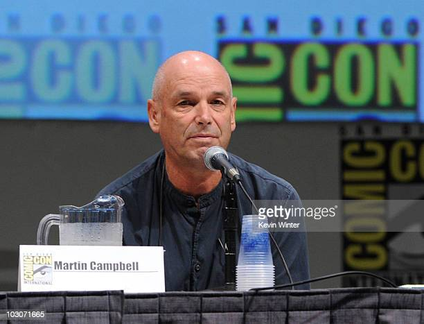 Director Martin Campbell speaks at the 'Green Lantern' panel discussion during ComicCon 2010 at San Diego Convention Center on July 24 2010 in San...