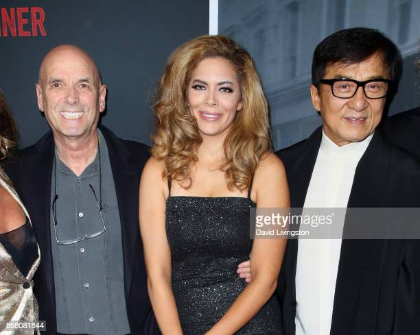 Director Martin Campbell wife actress Sol E Romero and actor Jackie Chan attend the premiere of STX Entertainment's 'The Foreigner' at ArcLight...
