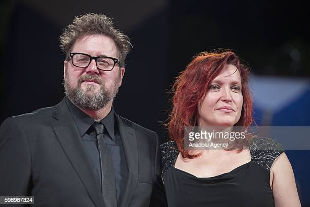 Director Martin Koolhoven and wife attend the premiere of the movie Brimstone during 73rd Venice Film Festival at Venice Lido Italy on September 3...