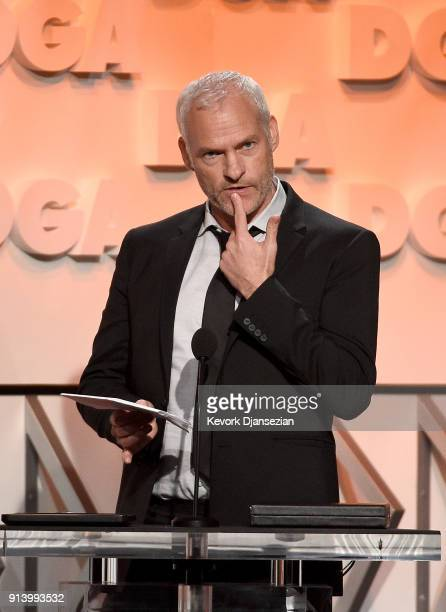 Director Martin McDonagh accepts the Nomination Medallion for Outstanding Directorial Achievement in Feature Film for 'Three Billboards Outside...
