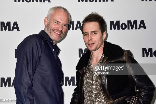 Director Martin McDonagh and Actor Sam Rockwell attend a panel discussion during the MoMA's Contenders Opening Night Featuring 'Three Billboards...