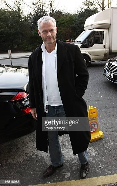 Director Martin McDonagh arrives at his hotel on February 15 2008 in Dublin Ireland