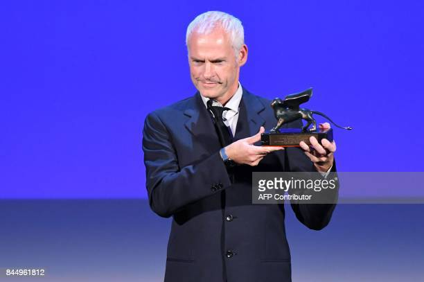 Director Martin McDonagh receives the Award for Best Screenplay for the movie 'Three Bilboards Outside Ebbing Missouri' during the award ceremony of...