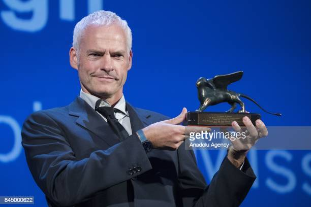 Director Martin McDonagh wins the Lion for Best screenplay with the film 'Three Billboards outside Ebbinf Missouri' during Ceremony Awards of the...