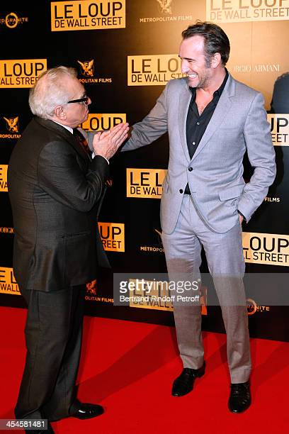 Director Martin Scorsese and actor Jean Dujardin attend the photocall before the party for 'The Wolf of Wall Street' World Premiere Held at Palais...