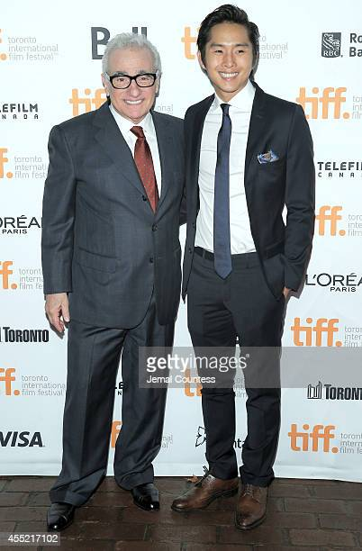 Director Martin Scorsese and actor Justin Chon attend the Revenge Of The Green Dragons premiere during the 2014 Toronto International Film Festival...