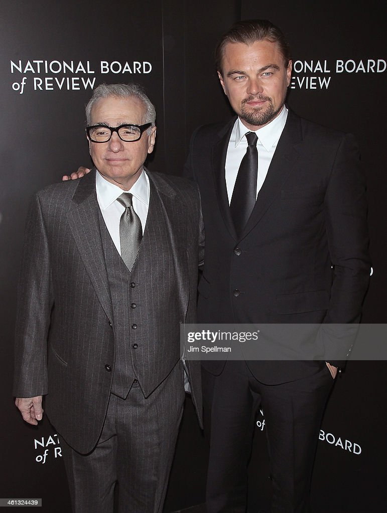 Director Martin Scorsese and actor Leonardo DiCaprio attend the 2014 National Board Of Review Awards Gala at Cipriani 42nd Street on January 7, 2014 in New York City.