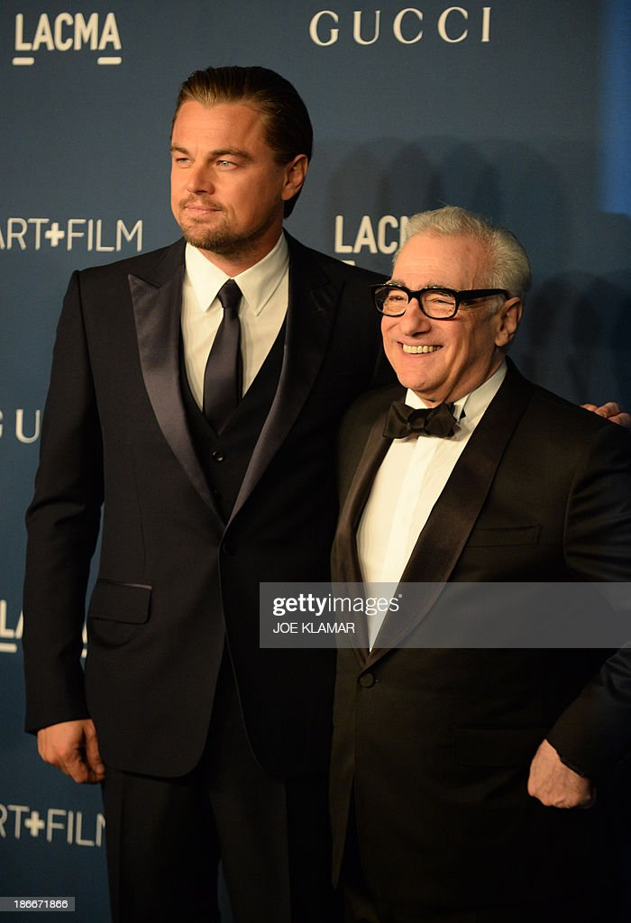 Director Martin Scorsese (R) and actor Leonardo DiCaprio attend the LACMA 2013 Art + Film Gala honoring Martin Scorsese and David Hockney at the Los Angeles County Museum of Art (LACMA) on November 2, 2013 in Los Angeles, California.