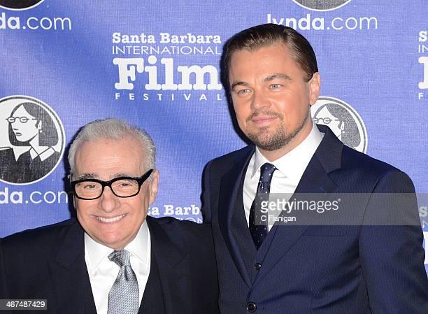 Director Martin Scorsese and actor Leonardo DiCaprio attend the Cinema Vanguard Award to Martin Scorsese and Leonardo DiCaprio at the Arlington...